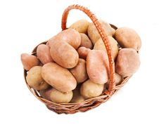 Free Potatoes In A Basket Royalty Free Stock Photos - 6519018
