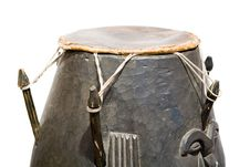 Free African Wooden Drum Royalty Free Stock Images - 6519199
