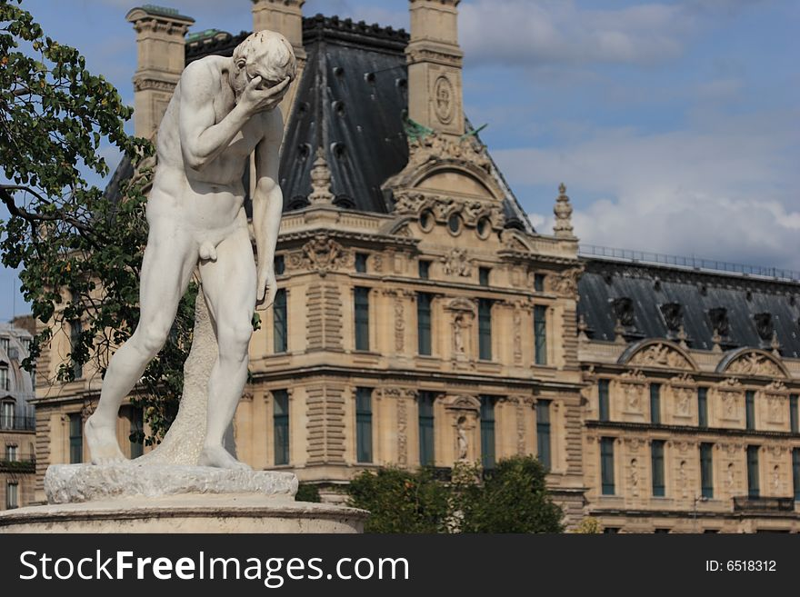 Crying statue at Louvre Museum