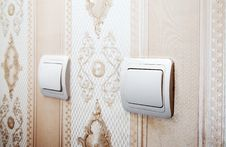 Free Two Switches On The Wall Stock Images - 65175874