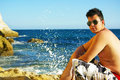 Free Young Man Next To Sea. Stock Photography - 6526232