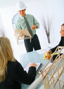 Free Contractor Presenting Project To Businesswoman Stock Image - 6529201