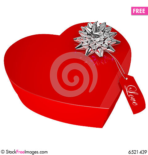 Free Heart Gift Boxes Royalty Free Stock Images - 6521439