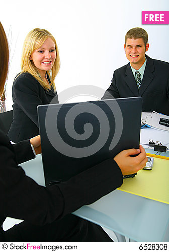 Free Business Partner Looking On Laptop Royalty Free Stock Photos - 6528308
