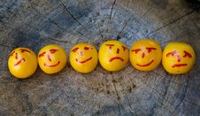 Yellow Plums Like Emoticons Stock Photo