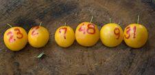 Free Yellow Plums Like Lottery Winning Balls Stock Photography - 6520392
