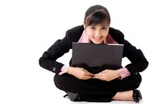 Free 20s Asian Business Woman With A Laptop Stock Photography - 6520642
