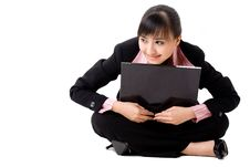 Free 20s Asian Business Woman With A Laptop Stock Image - 6520651