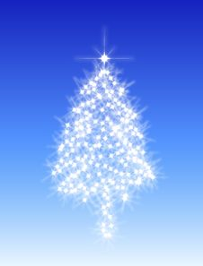 Abstract Christmas Tree 1 Royalty Free Stock Images