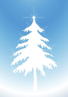 Free Twinkling White Tree 3 Royalty Free Stock Image - 6521126