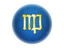 Virgo - Zodiac Golden Sign Royalty Free Stock Photography