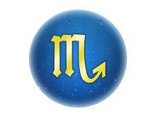 Free Scorpio - Zodiac Golden Sign Royalty Free Stock Photos - 6521258