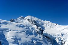 Free Blue Sky Above Peaks And Glacier, The Alps Royalty Free Stock Photography - 6521347