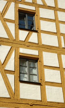 Free Two Windows In Half-timbered House Royalty Free Stock Image - 6521436