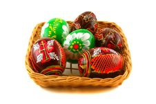 Free Easter Eggs In A Basket Stock Photo - 6521500