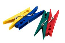 Free Colored Clothespins Stock Image - 6521641