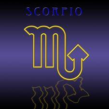 Free Scorpio Card Stock Image - 6522121