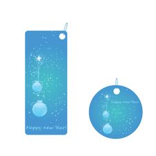 Set Of Two Christmas Badges Stock Photography