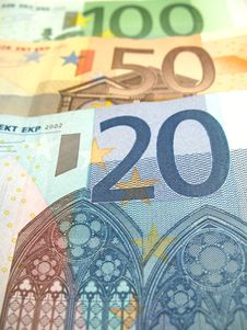 Free Some Euro Bills Royalty Free Stock Images - 6524169