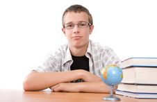 Teenager Preparing To School Stock Image