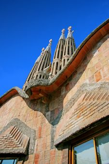 Detail Of The Temple Of The Sagrada Familia Royalty Free Stock Images