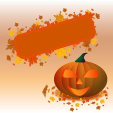 Halloween Pumpkin Poster Stock Photography