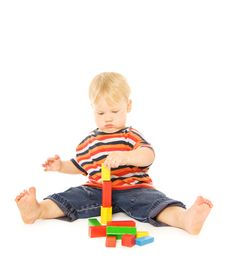 Free Child Playing Intellectual Game Stock Photo - 6524880