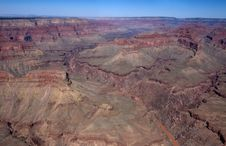 Grand Canyon From Helicopter Stock Images