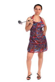 Free Young Housewife With Ladle Royalty Free Stock Photography - 6525377