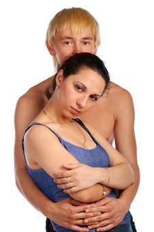 Free Young Couple Embraces Stock Photography - 6525392