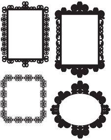 Free Black Frames Stock Photography - 6525472
