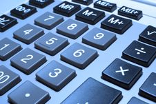 Free Calculator Closeup With Cold Photo Filter. Stock Image - 6526661