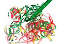 Free Curly Ribbons And Party Blower Stock Image - 6528551