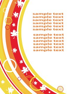 Free Autumnal Blank With Maple Leaves Royalty Free Stock Photo - 6528985