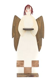 Free Angel Tray In Wood For Christmas Decoration Royalty Free Stock Photos - 6529328