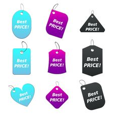 Colored Tags - Best Price 2 Stock Image