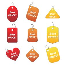 Colored Tags - Best Price 3 Royalty Free Stock Photography