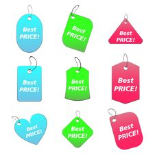Colored Tags - Best Price 5 Stock Images