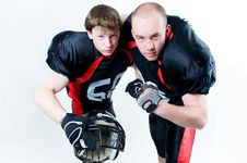 Free Two American Football Players Royalty Free Stock Photo - 6529805