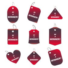 Free Red Tags - Be A Winner Stock Photography - 6529912
