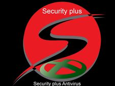 Security Plus Anti-virus Logo Royalty Free Stock Image