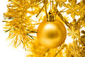 Free Yellow Christmas Ball Royalty Free Stock Image - 6538226