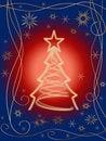 Free Golden 3d Christmas Tree 2 Royalty Free Stock Photo - 6539505