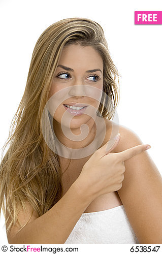Free Sexy Blonde Female Looking Side Royalty Free Stock Photography - 6538547