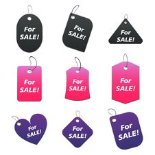 Free Colored Tags - For Sale Stock Photos - 6530013