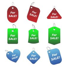 Free Colored Tags - For Sale 2 Stock Image - 6530101