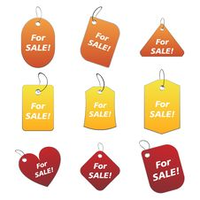 Free Colored Tags - For Sale 3 Royalty Free Stock Photo - 6530115