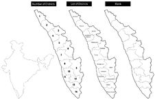Free Map Of Kerala With Districts Royalty Free Stock Images - 6530289