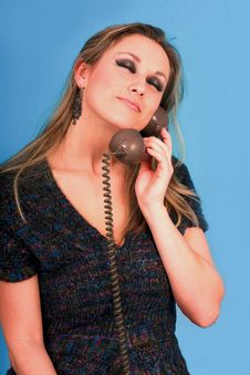 Free Woman Talking In Telephone Very Pretty Stock Photo - 6530340