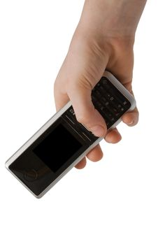 Phone In A Hand Royalty Free Stock Image
